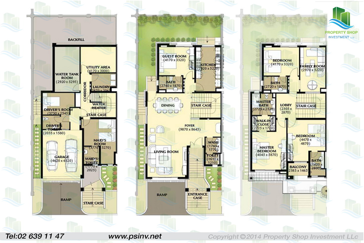 Al forsan village apartment properties villa townhouse Luxury townhouse floor plans