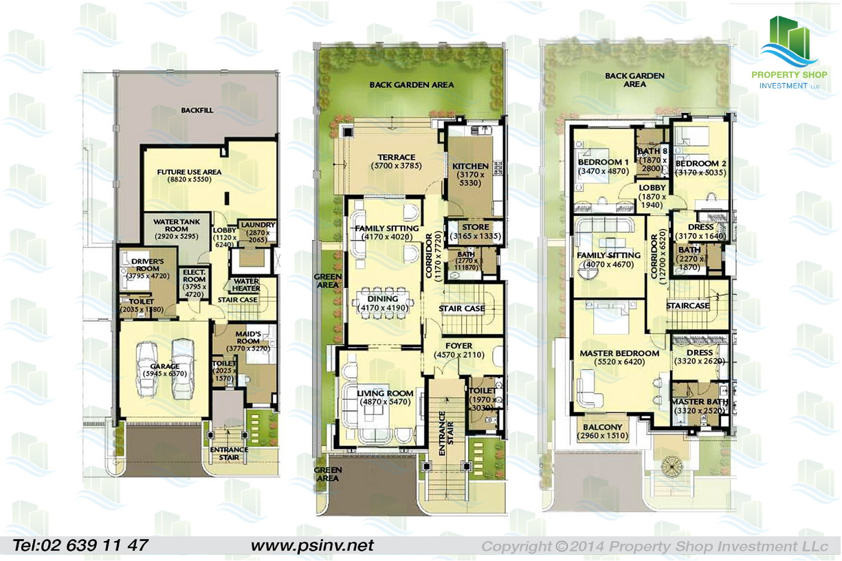 Al forsan village apartment properties villa townhouse for Villa floor plans