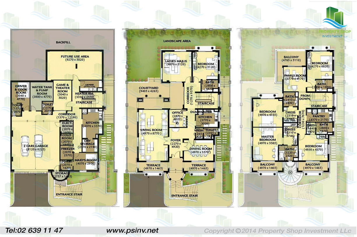Three Bedroom Townhouse Floor Plans Al Forsan Village Apartment Properties Villa Townhouse