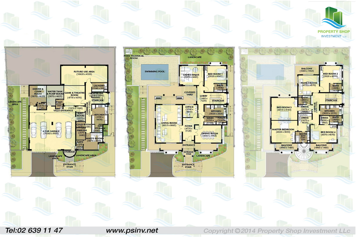 Al forsan village apartment properties villa townhouse Townhouse layout 3 bedrooms