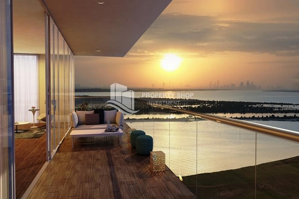 Balcony - Get a chance to own a property in a luxurious community in Mayan, Yas Island.