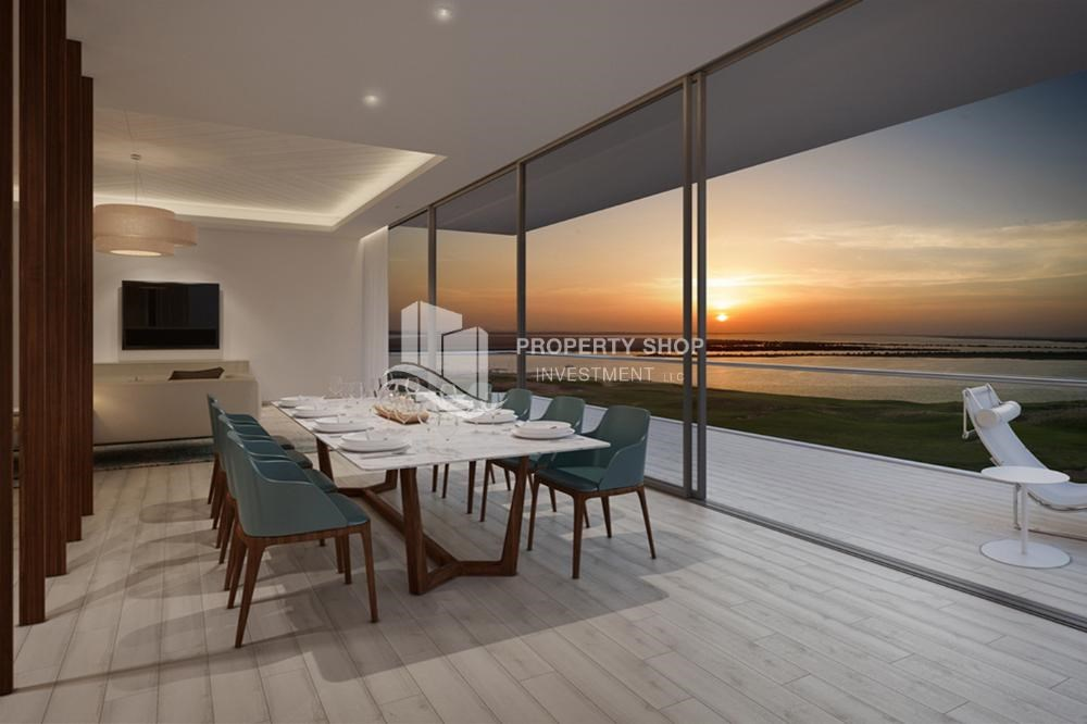 Dining Room - Get a chance to own a property in a luxurious community in Mayan, Yas Island.