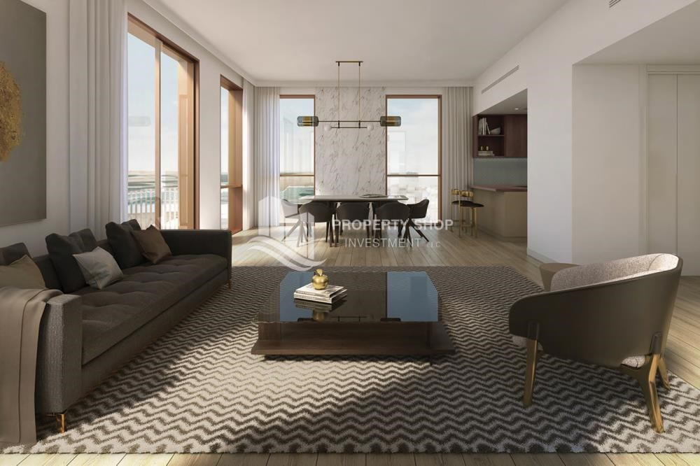 Living Room - Luxury apartment overlooking the beautiful Reem Island landscape