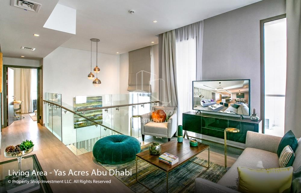 Living Room - Spacious 3 bedroom townhouse in Yas Acres