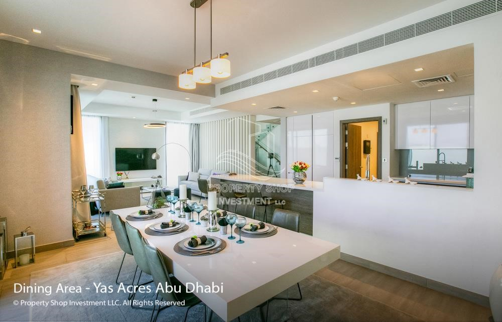Dining Room - Spacious 3 bedroom townhouse in Yas Acres