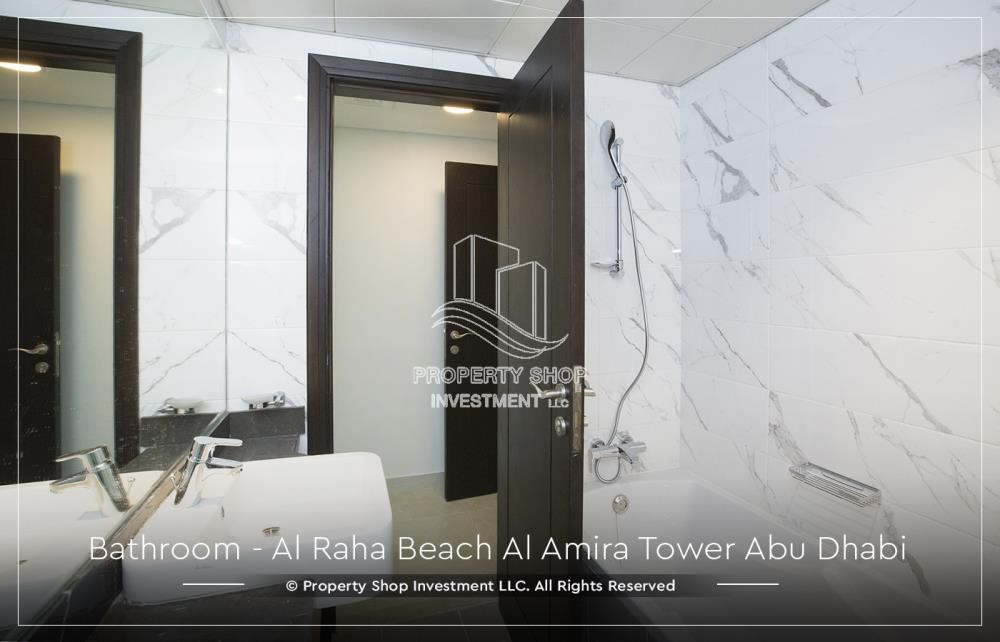 Bathroom - Best price for 3BR  Apartment Al Raha Beach
