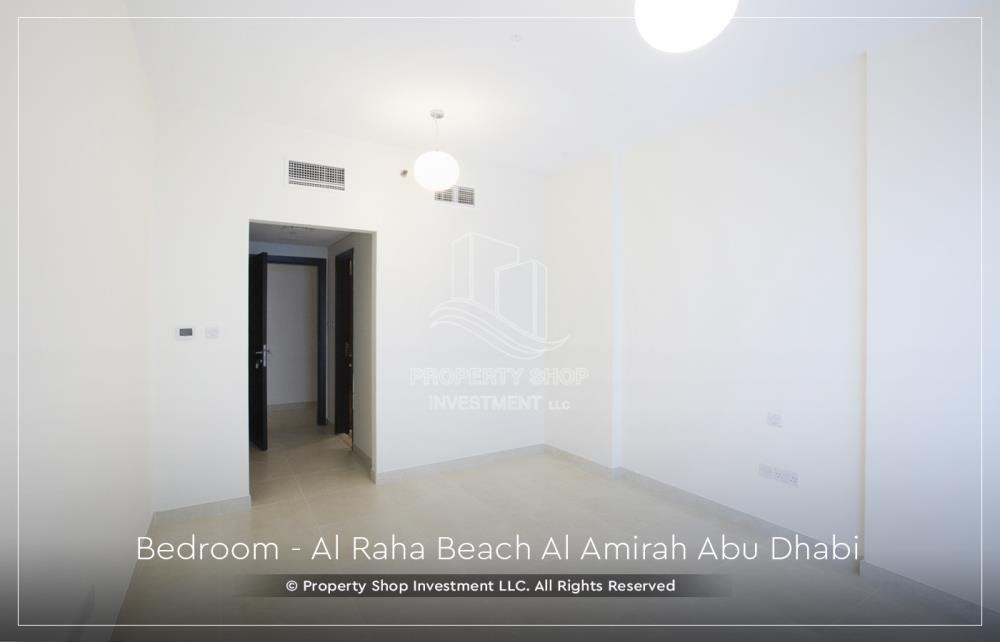 Bedroom - Brand New 2BR + Maid's room apartment in Al Raha Beach