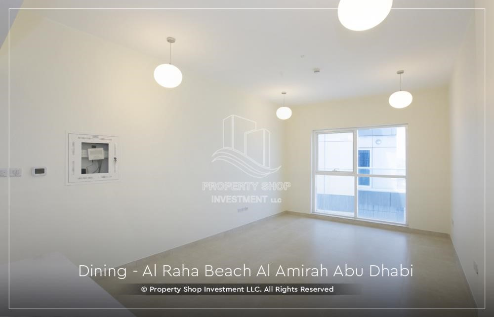 Living Room - Brand New 2BR + Maid's room apartment in Al Raha Beach