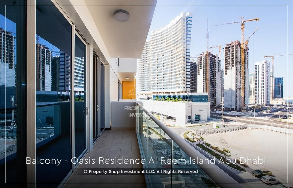 Balcony - Brand New 1 Bedroom with Stunning Views in Oasis Residence.