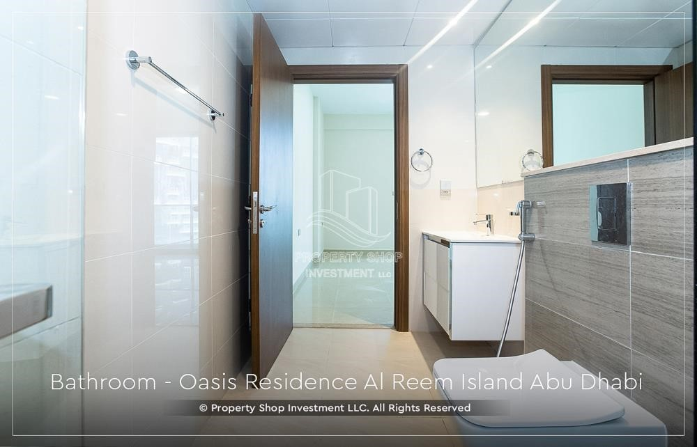 Bathroom - Brand New 1 Bedroom with Stunning Views in Oasis Residence.