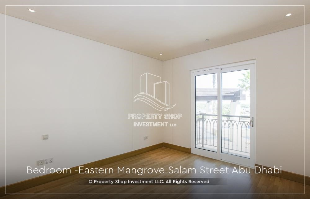 Bedroom - Elegant, Stunning 1BR Apartment with Mangrove View, Pool, Gym