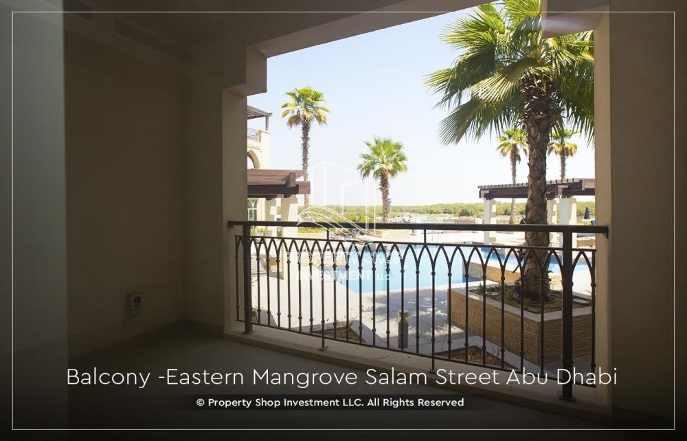 Balcony - Elegant, Stunning 1BR Apartment with Mangrove View, Pool, Gym