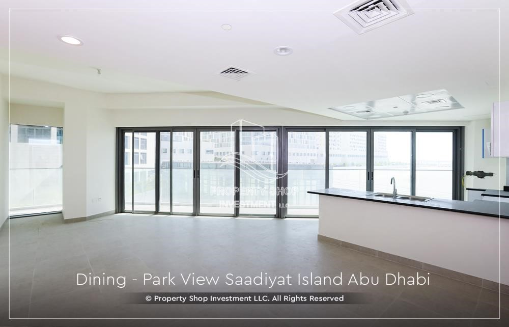 Dining Room - Available for viewing and with High Returns! Own a brand new Apartment in Park View Saadiyat.