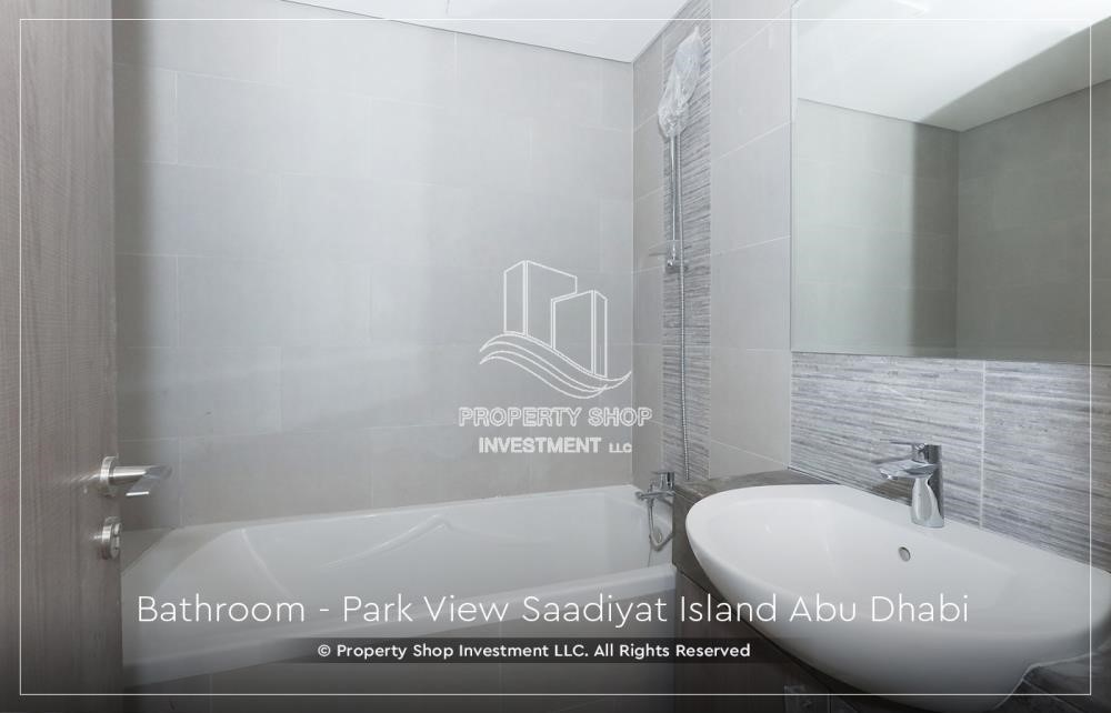Bathroom - Available for viewing and with High Returns! Own a brand new Apartment in Park View Saadiyat.