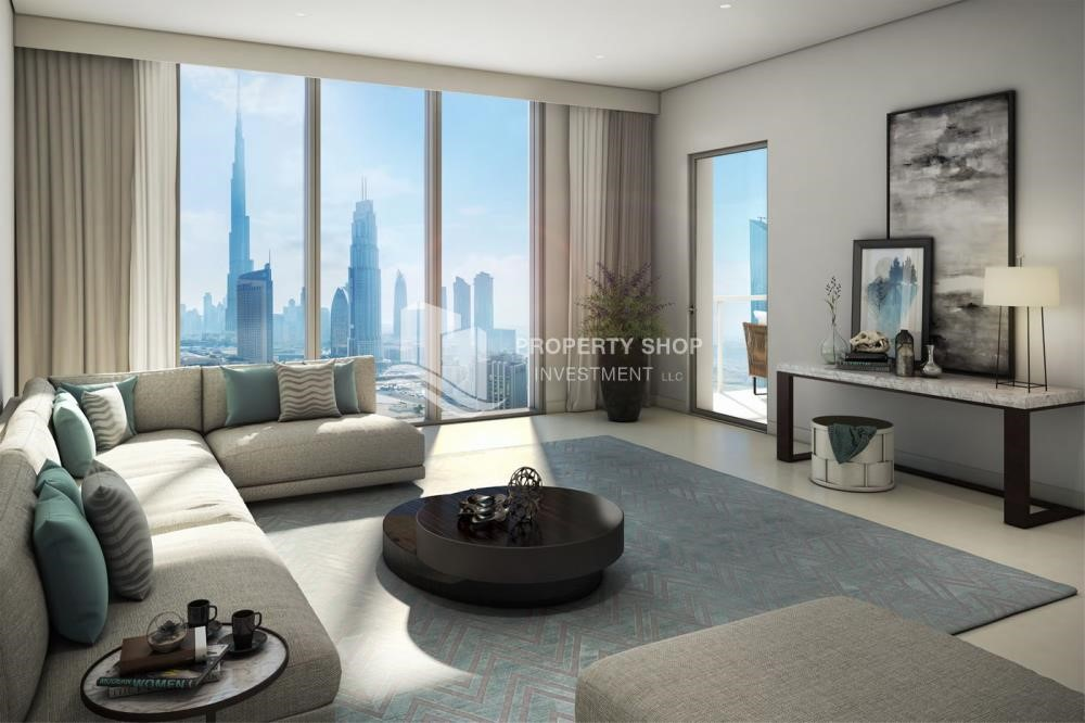 Living Room - A Future Home with your family in Dubai Downtown Views II.