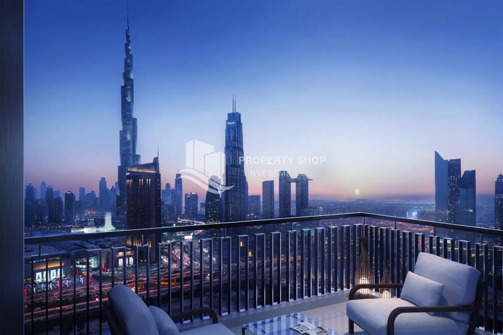 Balcony - A Future Home with your family in Dubai Downtown Views II.