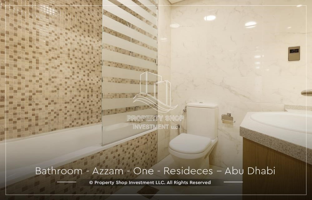 Bathroom - Well Maintained, 4BR+M Apartment with Gym, Pool, Sauna, Steam Room