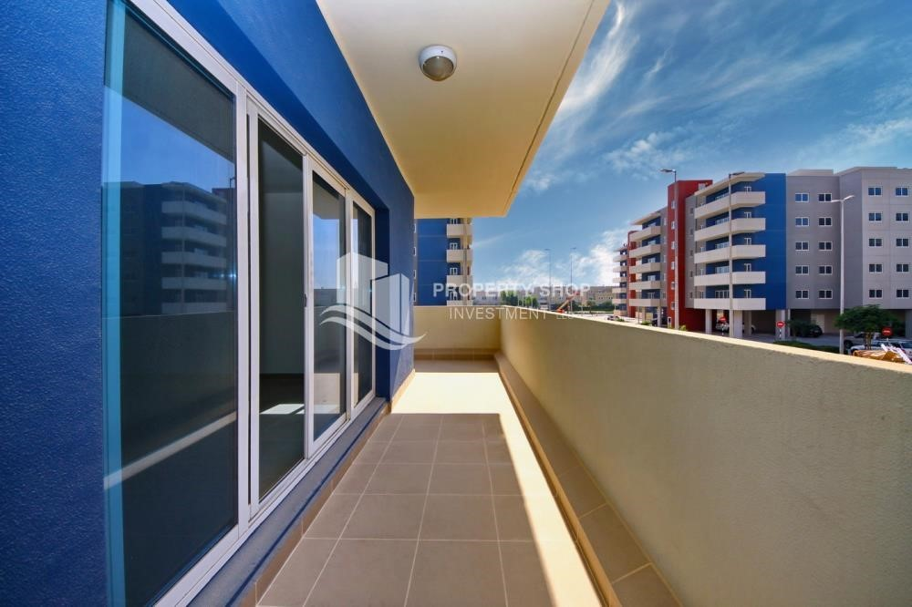 Balcony - 2BR Apt with Balcony and Storage, street view, available for rent Now