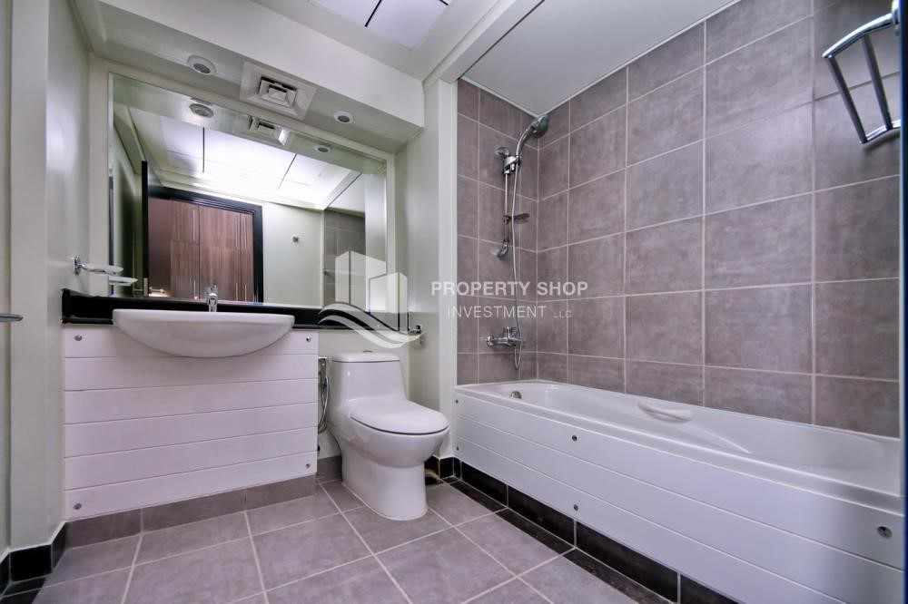 Bathroom - 2BR Apt with Balcony and Storage, street view, available for rent Now