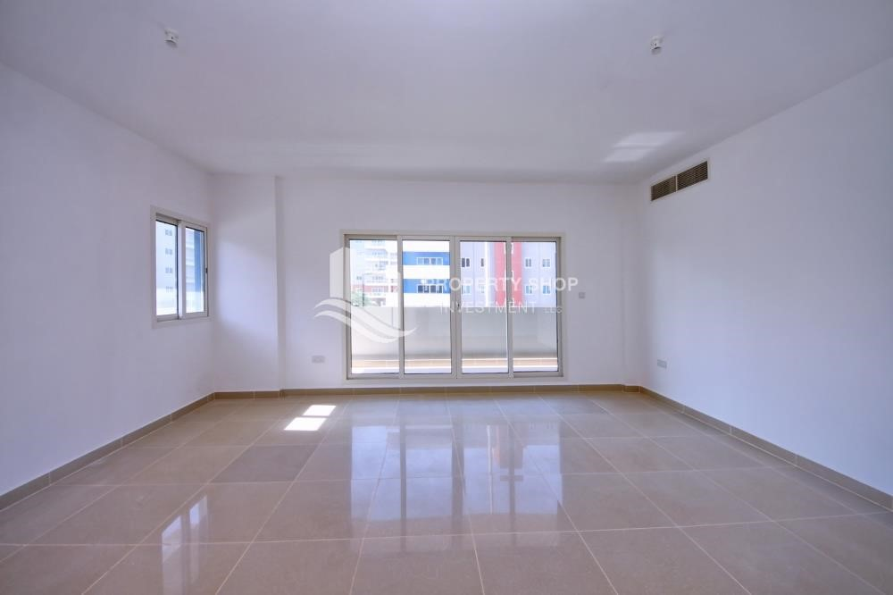 Living Room - 2BR Apt with Balcony and Storage, street view, available for rent Now