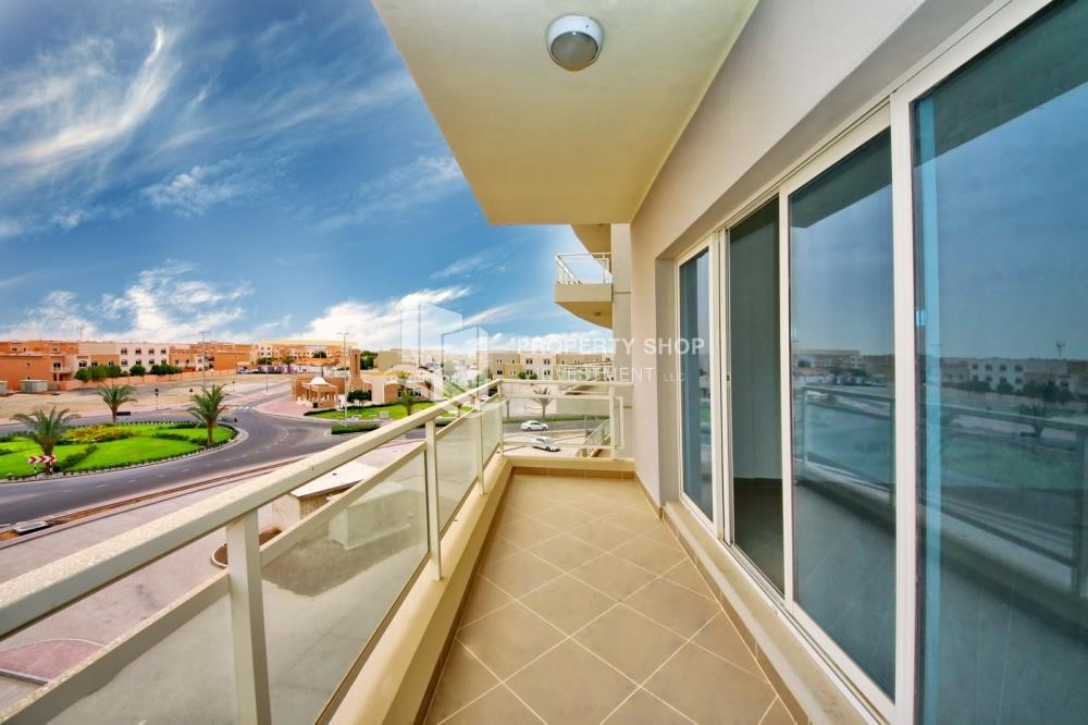 Balcony - 2 Bedroom Apartment in Al Reef Downtown FOR RENT!