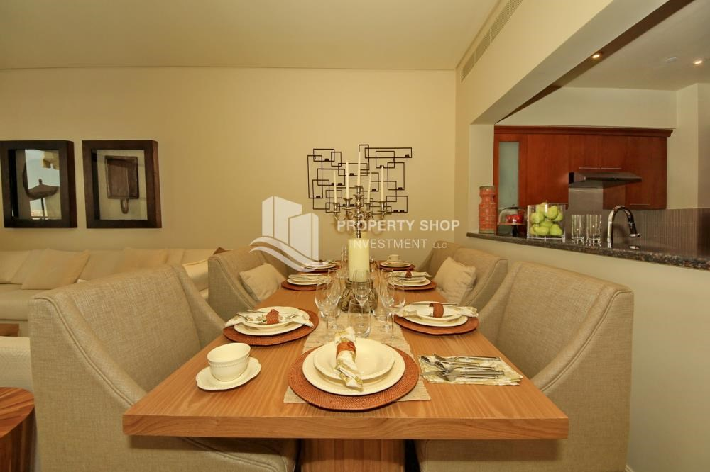Dining Room - 2BR Apt on Low Floor with street view in Saadiyat Island!