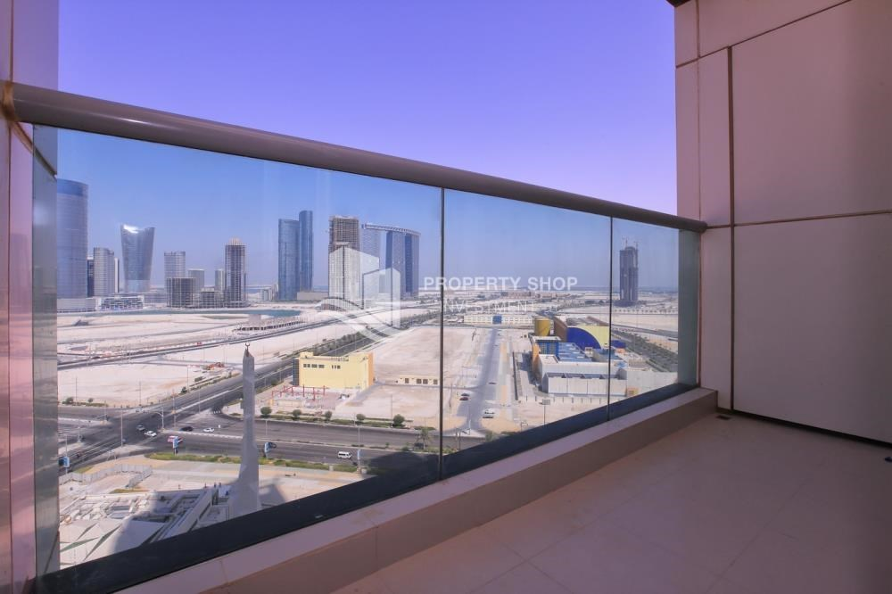 Balcony - High floor Apt in Al Maha Tower.
