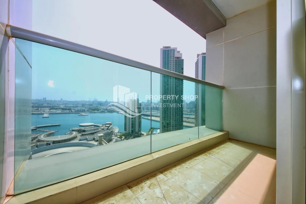 Balcony - Low floor 1BR Apt with Sea view.
