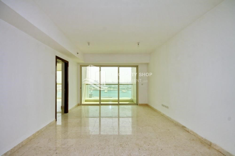 Living Room - Low floor 1BR Apt with Sea view.