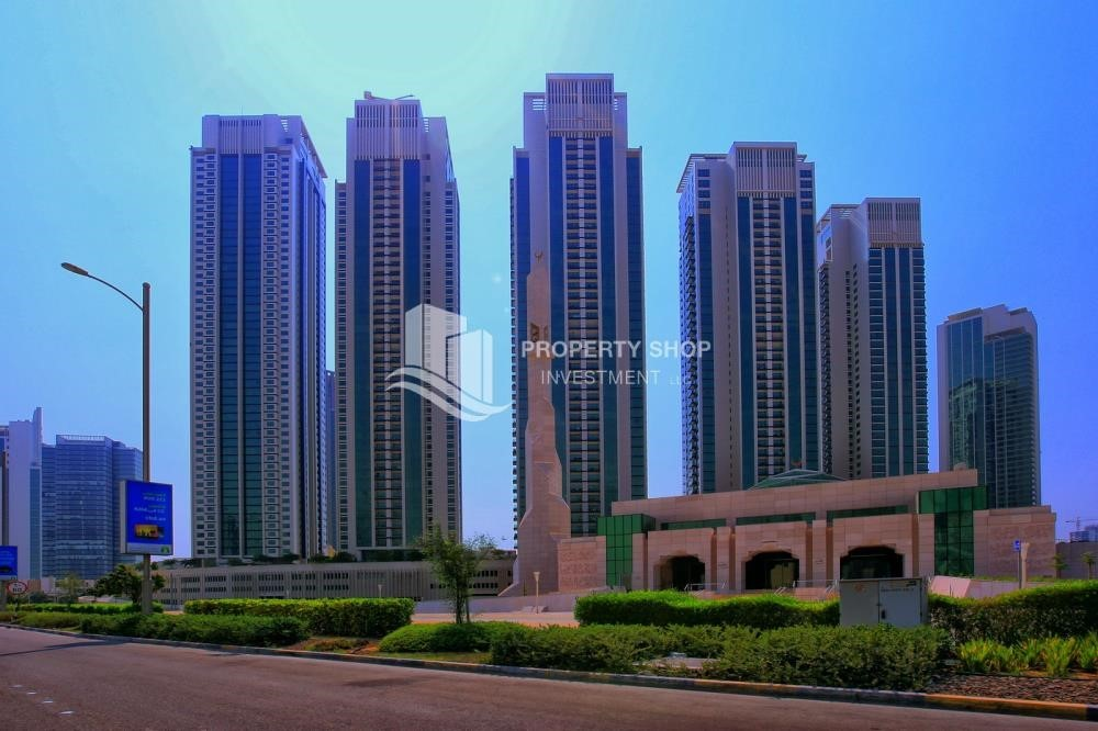 Community - High floor 2BR unit with balcony plus partial sea view.