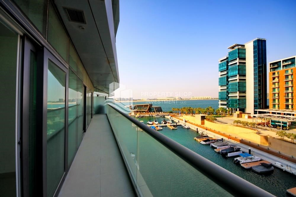 Balcony -  2 bedrooms with an  amazing view  in al bandar for sale