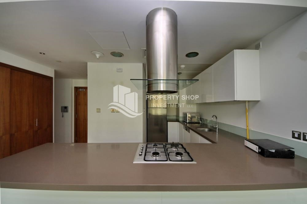 Kitchen -  2 bedrooms with an  amazing view  in al bandar for sale
