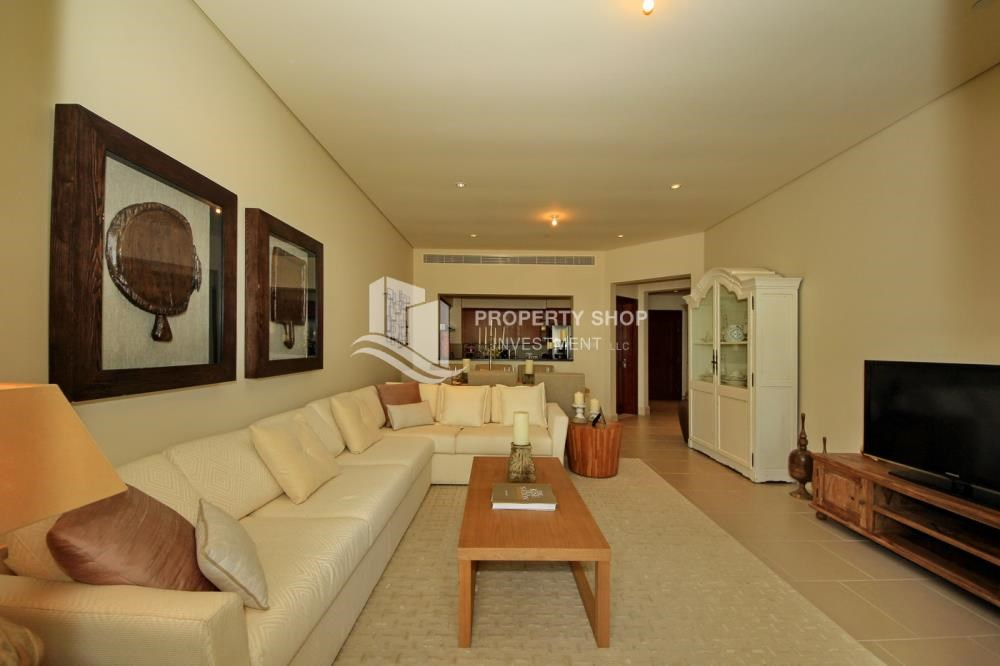 Living Room - Zero Commission! Stunning 2BR+2 Balcony Apt. Available in Saadiyat Beach Residences!