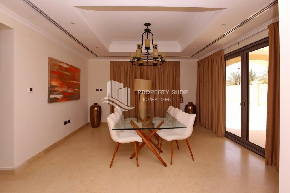 Dining Room - Vacant, High End Mediterranean Villa with Family Room