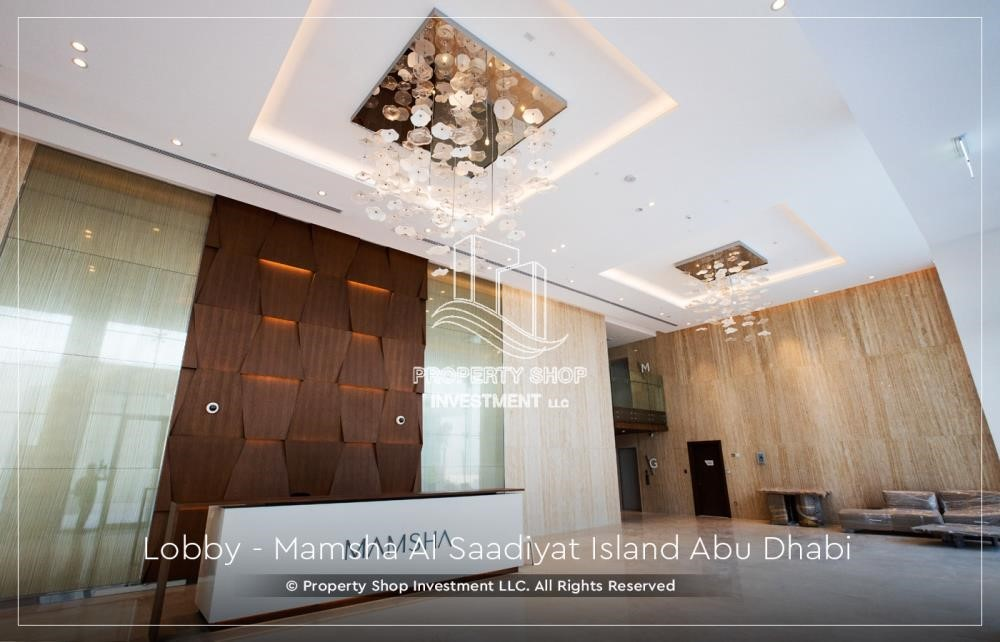 Lobby - 4% Discount  on a Brand new investment opportunity in Mamsha Al Saadiyat. Call PSI to get details now.
