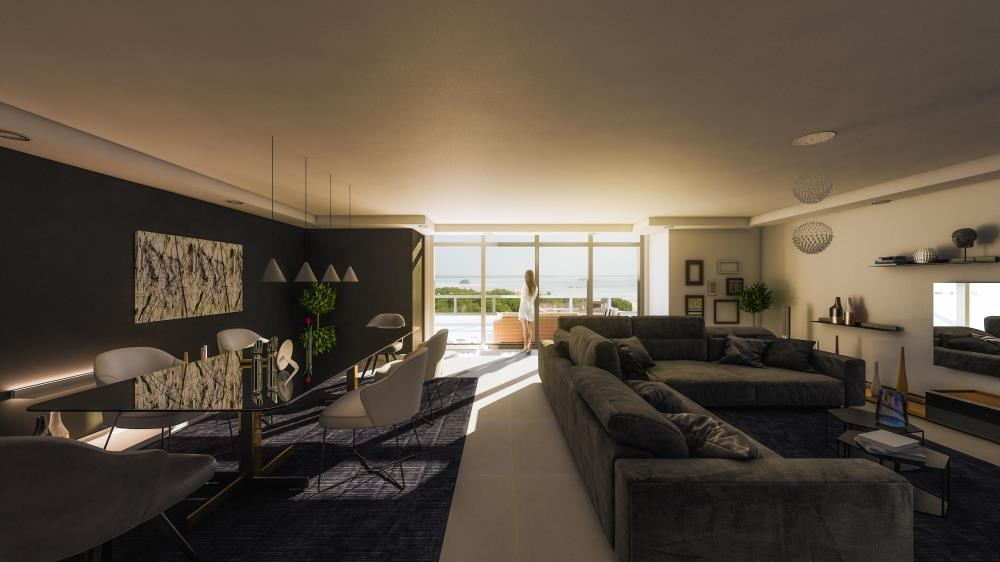 Living Room - Explore Comfort in a Spacious 2+1BR Overlooking Mangroves, Reem Central Park & Facilities