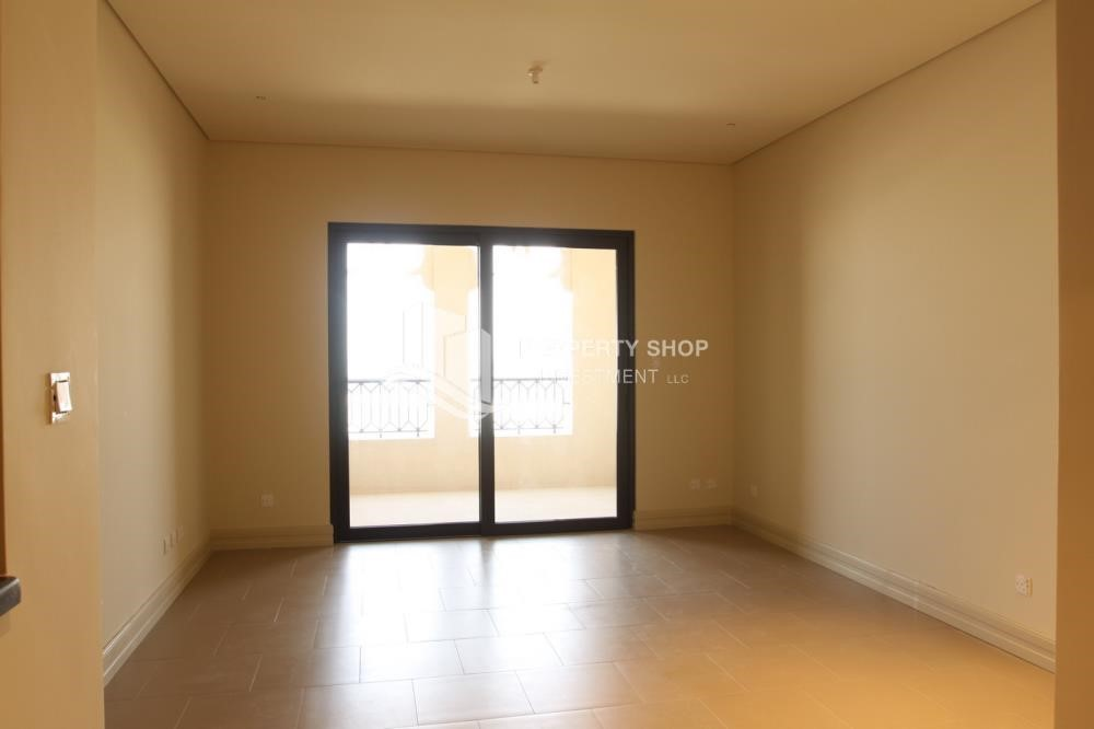 Living Room - Exclusive Property in Saadiyat Island, 1BR Apt Available for rent!