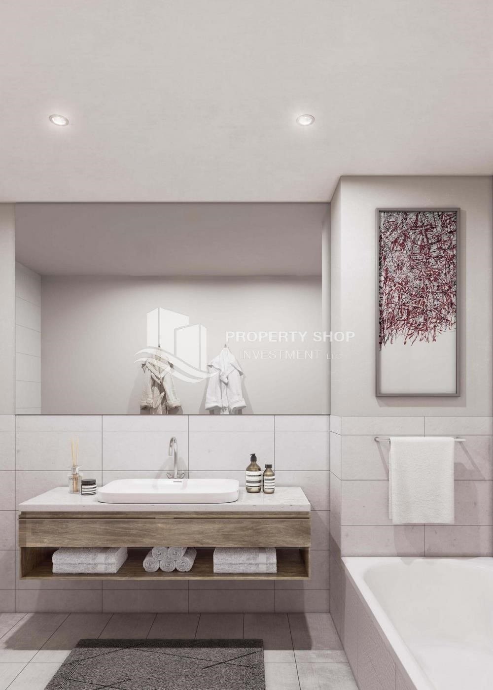 Bathroom - 3BR+M Apt in a brand new tower in Reem Island.