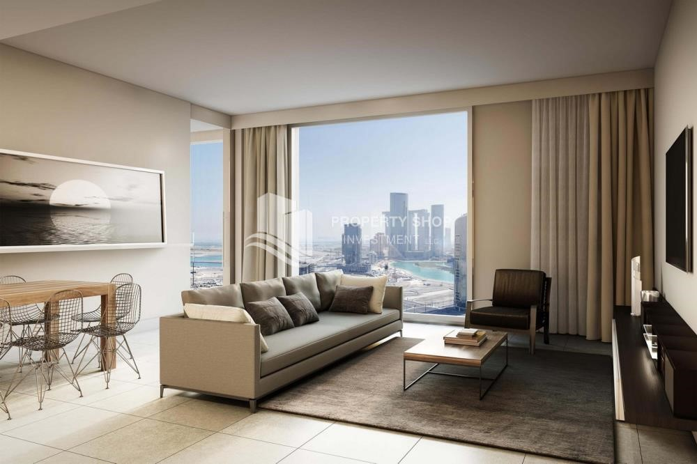 Living Room - 3BR+M Apt in a brand new tower in Reem Island.