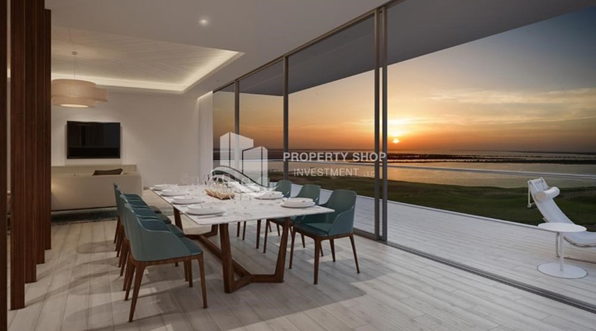 Dining Room-Get a chance to own a property in a luxurious community in Mayan, Yas Island.