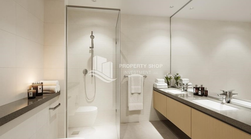 Bathroom-Own an exquisite 1BR apartment with pool view.