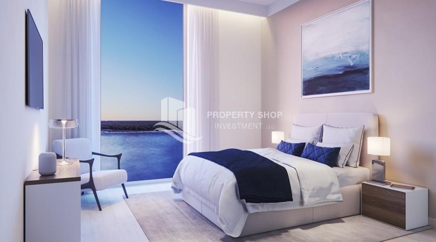 Bedroom-Own an exquisite 1BR apartment with pool view.