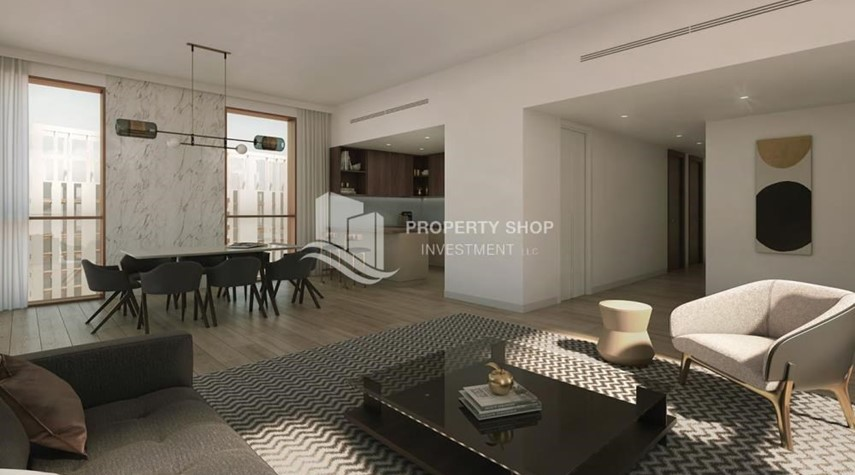 Living Room-Luxury apartment overlooking the beautiful Reem Island landscape