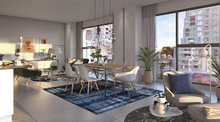 Living Room-Vibrant destination in reem island. 5% down payment/ handover 2021