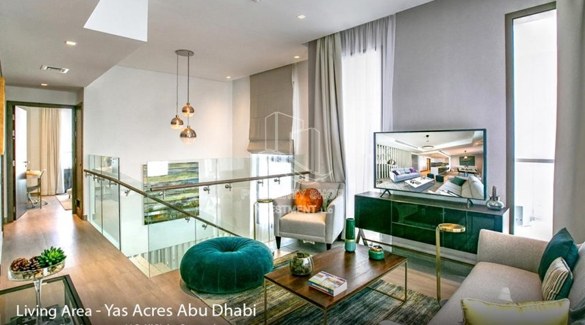 Living Room-Spacious 3 bedroom townhouse in Yas Acres