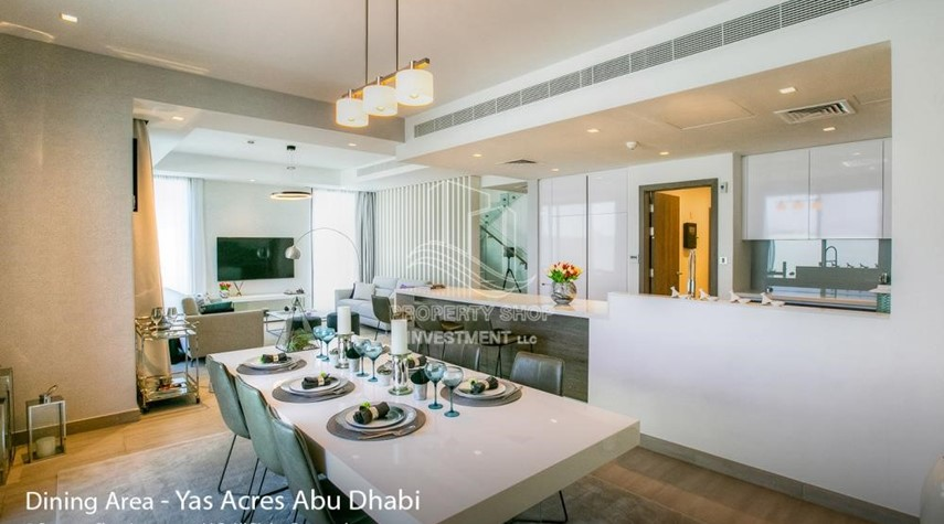 Dining Room-Spacious 3 bedroom townhouse in Yas Acres
