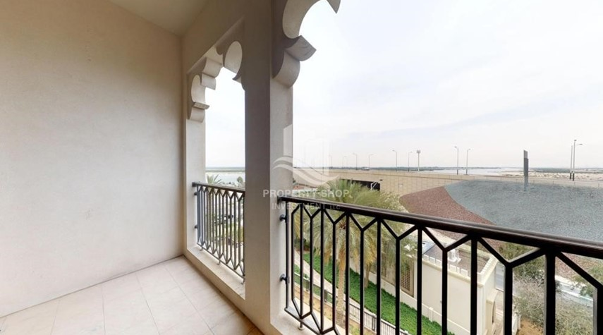 Balcony-2 Bedroom in Luxurious Saadiyat Beach Residence FOR RENT!