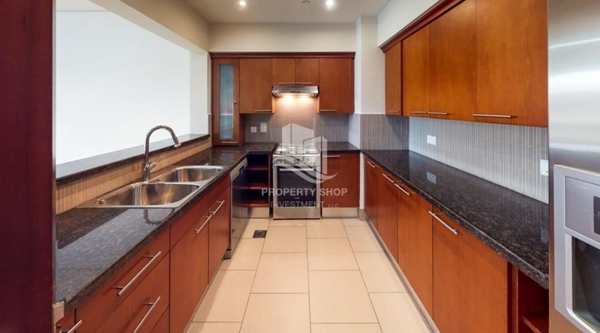Kitchen-Exclusive 2BR Apt with Amazing Sea View in Saadiyat Beach Residences!