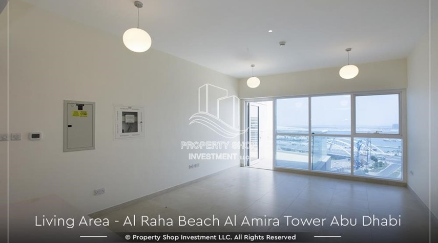 Living Room-Best price for 3BR  Apartment Al Raha Beach