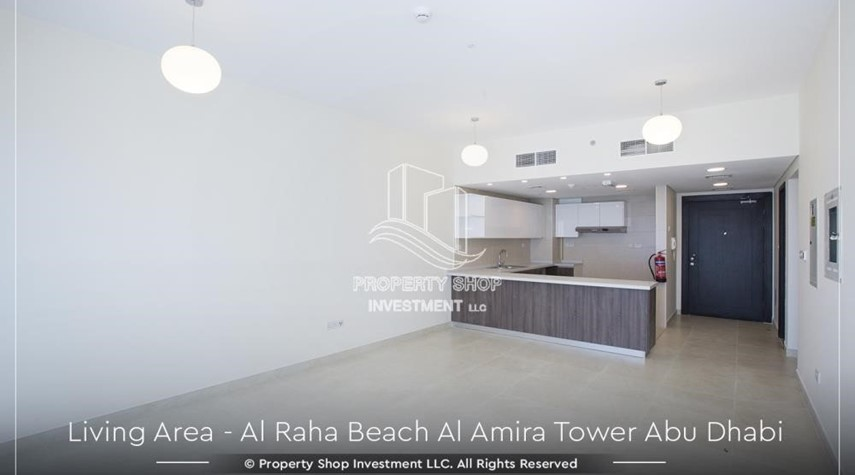 Dining Room-Best price for 3BR  Apartment Al Raha Beach